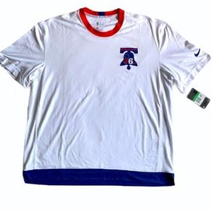 NWT Men's Nike loose fit dry fit 76ers T-shirt XL